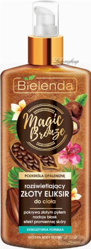 Bielenda - MAGIC BRONZE - GOLDEN BODY ELIKSIR - Illuminating golden body elixir - 150 ml