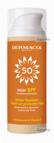 Dermacol - Water Resistant Tinted Sun Protection Fluid - Wodoodporny, tonujący fluid do twarzy - SPF 50 - 50 ml