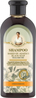 Agafia - Receptury Babuszki Agafii - Wzmacniający szampon do włosów na bazie czarnego mydła Agafii - 350 ml