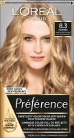 L'Oréal - Préférence - Permanent Haircolor 8.3 - CANNES - LIGHT GOLDEN BLONDE - Hair dye - Permanent coloring - Light golden blonde