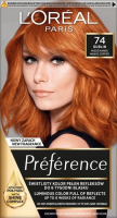 L'Oréal - Préférence - Permanent Haircolor 74 - DUBLIN - MANGO COPPER - Farba do włosów - Trwała koloryzacja - Miedź Mango