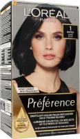 L'Oréal - Préférence - Permanent Haircolor 1 - NAPOLI - BLACK - Farba do włosów - Trwała koloryzacja - Czerń