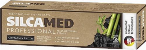 SILICAMED - Black Whitening Organic - Wybielająca pasta do zębów z węglem - 100 g