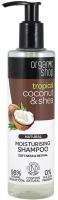 ORGANIC SHOP - NATURAL MOISTURISING SHAMPOO - Naturalny, nawilżający szampon do włosów - kokos i masło shea - 280 ml