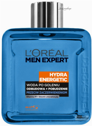 L'Oréal - MEN EXPERT - HYDRA ENERGETIC AFTER SHAVE SPLASH - Woda po goleniu przeciw zaczerwienieniom - 100 ml
