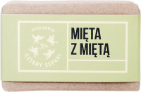 Mydlarnia Cztery Szpaki - Natural soap with peppermint oil - Mint with Mint - 110 g