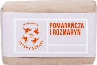 Mydlarnia Cztery Szpaki - Naturalne mydło z olejkiem pomarańczowym i rozmarynem - Pomarańcza i Rozmaryn - 110 g