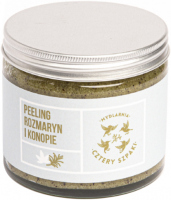 Mydlarnia Cztery Szpaki - Natural sugar body scrub - Rosemary and Hemp - 250 ml