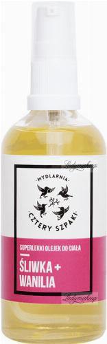 Mydlarnia Cztery Szpaki - Superlekki olejek do ciała - Śliwka + Wanilia - 100 ml