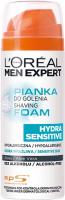L'Oréal - MEN EXPERT - HYDRA SENSITIVE SHAVING FOAM - Shaving foam with aloe extract - Sensitive skin - 200 ml
