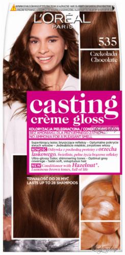 L'Oréal - Casting Creme Gloss - Pielęgnacyjna koloryzacja bez amoniaku - 535 Czekolada