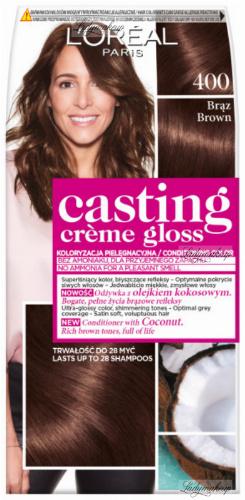 L'Oréal - Casting Créme Gloss - Pielęgnacyjna koloryzacja bez amoniaku - 400 Brąz