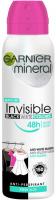 GARNIER - Mineral - Invisible Black White Colors - Fresh Aloe - Spray antiperspirant - 150 ml