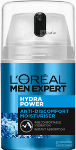 L'Oréal - MEN EXPERT - HYDRA POWER - ANTI-DISCOMFORT MOISTURISER - Krem nawilżający do twarzy anty-dyskomfort dla mężczyzn - 50 ml