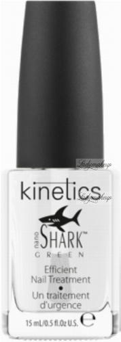 Kinetics - Nano Shark Green - Efficient Nail Treatment - Baza i odżywka do paznokci zniszczonych i słabych - 15 ml