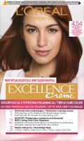 L'Oréal - EXCELLENCE Creme - Koloryzacja do włosów z potrójną pielęgnacją - 4.54 Brąz Mahoniowo-Miedziany