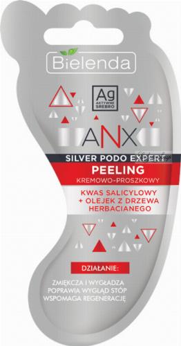 Bielenda - ANX Silver Podo Expert - Cream-powder foot scrub - 10 g