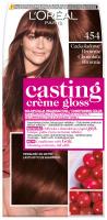 L'Oréal - Casting Créme Gloss - Pielęgnacyjna koloryzacja bez amoniaku - 454 Czekoladowe Brownie