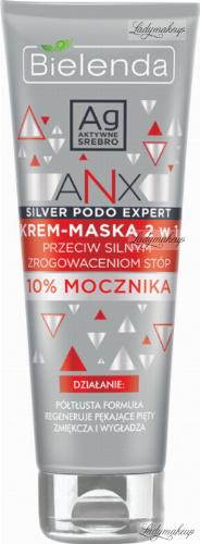 Bielenda - ANX Silver Podo Expert - 2in1 mask cream against severe foot calluses - 100 ml