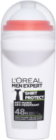 L'Oréal - MEN EXPERT - SHIRT PROTECT ANTI MARKS ANTI-PERSPIRANT - Deodorant / Antiperspirant roll-on for men 48H - 50 ml