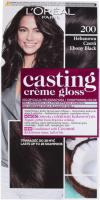 L'Oréal - Casting Créme Gloss - Pielęgnacyjna koloryzacja bez amoniaku - 200 Hebanowa Czerń