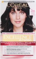 L'Oréal - EXCELLENCE Creme - Koloryzacja do włosów z potrójną pielęgnacją - 300 Ciemny Brąz