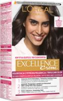 L'Oréal - EXCELLENCE Creme - Koloryzacja do włosów z potrójną pielęgnacją - 2 Bardzo Ciemny Brąz