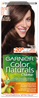 GARNIER - COLOR NATURALS Creme - Trwała, odżywcza koloryzacja do włosów - 5.12 Zimny Brąz