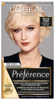 L'Oréal - Préférence - Permanent Haircolor 102 SYDNEY - VERY VERY LIGHT PEARL BLONDE - Hair dye - Permanent coloring - Very, very light pearl blond