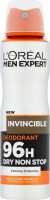 L'Oréal - MEN EXPERT - INVINCIBLE DEODORANT 96H - Deodorant / Antiperspirant spray for men 96H - 150 ml