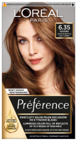 L'Oréal - Préférence - Permanent Haircolor 6.35 - HAVANA - LIGHT AMBER - Farba do włosów - Trwała koloryzacja - Jasny Bursztyn