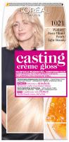 L'Oréal - Casting Créme Gloss - Pielęgnacyjna koloryzacja bez amoniaku - 1021 Perłowy Jasny Blond