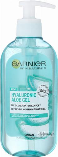 GARNIER - SKIN NATURALS - HYALURONIC ALOE GEL - Aloesowy żel oczyszczający i zwężający pory - 200 ml