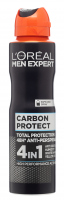 L'Oréal - MEN EXPERT - CARBON PROTECT TOTAL PROTECTION 48H ANTI-PERSPIRANT - Spray antiperspirant for men with the addition of carbon - 150 ml