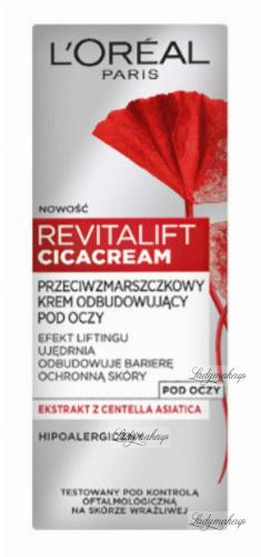L'Oréal - REVITALIFT CICA CREAM - Przeciwzmarszczkowy krem odbudowujący pod oczy - 15 ml