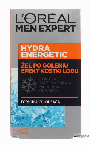 L'Oréal - MEN EXPERT - HYDRA ENERGETIC ICE EFFECT AFTER SHAVE GEL - Żel po goleniu z efektem kostki lodu - 100 ml