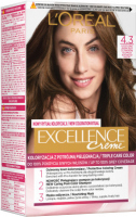 L'Oréal - EXCELLENCE Creme - Hair coloring with triple care - 4.3 Golden Brown