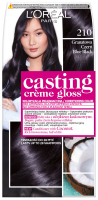 L'Oréal - Casting Créme Gloss - Caring color without ammonia - 210 Navy Blue Black