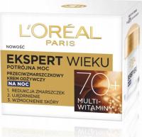 L'Oréal - EKSPERT WIEKU - Potrójna moc - Przeciwzmarszczkowy krem odżywczy na noc - 50 ml - 70+