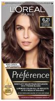 L'Oréal - Préférence - 6.21 ZURICH - Farba do włosów - Trwała koloryzacja - Zimny opalizujący bardzo jasny brąz
