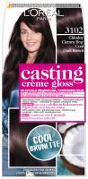 L'Oréal - Casting Creme Gloss - Casting Créme Gloss - Pielęgnacyjna koloryzacja bez amoniaku - 3102 Chłodny Ciemny Brąz