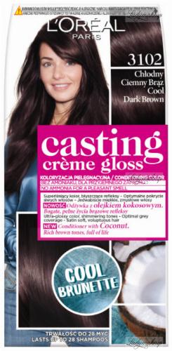 L'Oréal - Casting Créme Gloss - Pielęgnacyjna koloryzacja bez amoniaku - 3102 Chłodny Ciemny Brąz