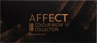 AFFECT - COLOUR BROW COLLECTION - PRESSED EYEBROW SHADOWS PALETTE - Paleta 10 cieni prasowanych do brwi