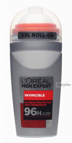 L'Oréal - MEN EXPERT - INVINCIBLE DEODORANT 96H ROLL ON - Dezodorant / Antyperspirant w kulce dla mężczyzn 96H - 50 ml