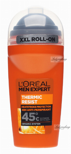 L'Oréal - MEN EXPERT THERMIC RESIST - HEATSTROKE PROTECTION 48H ANTI-PERSPIRANT roll on - Antyperspirant w kulce z termo ochroną - 50 ml