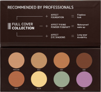 AFFECT - FULL COVER COLLECTION 2 - CAMOUFLAGES PALETTE - Paleta 8 kamuflaży