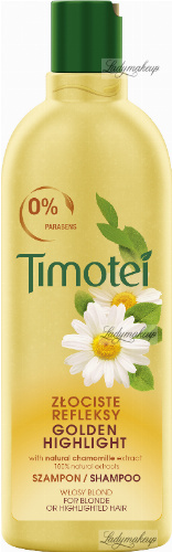 Timotei - Golden Highlights Shampoo - Szampon do włosów blond lub rozjaśnionych - Wyciąg z rumianku - 400 ml