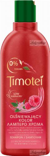 Timotei - Radiant Colour Shampoo - Szampon do włosów farbowanych - Czerwona malina i biała herbata - 400 ml