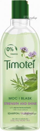 Timotei - Strenght and Shine Shampoo - Szampon do włosów matowych -  Alpejskie zioła - 400 ml