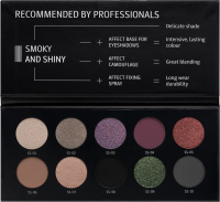 AFFECT - PRESSED EYESHADOWS PALETTE - Paleta 10 cieni prasowanych - SMOKY AND SHINY